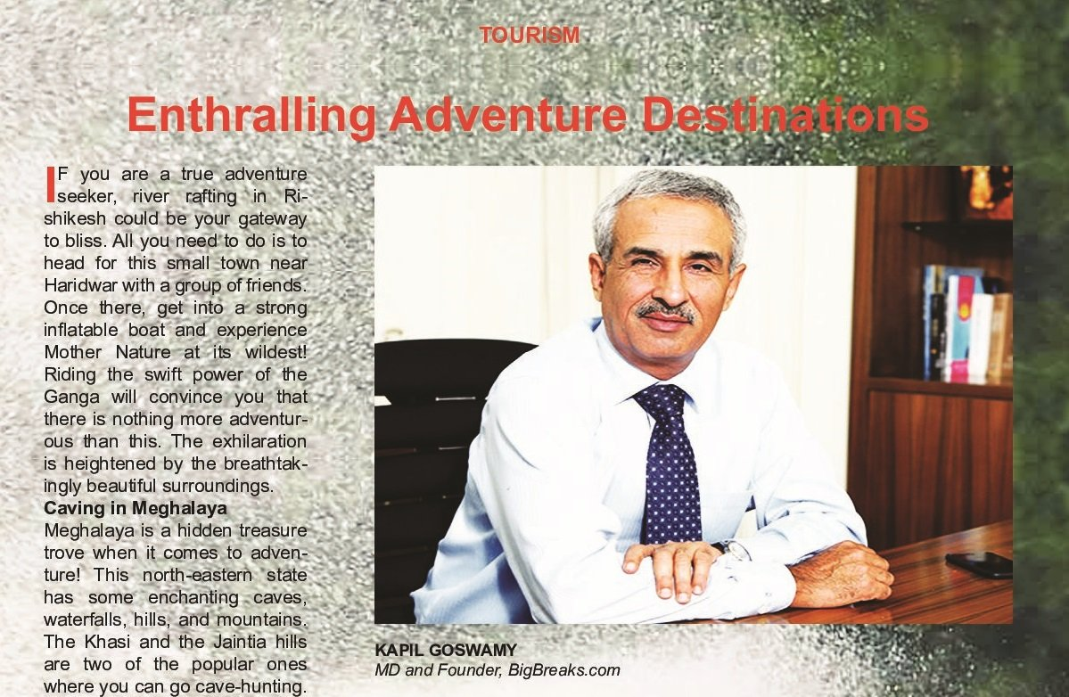 Big Breaks print coverage in Safari India Magazine