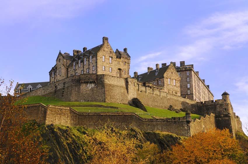 Scottish Castle Middle Age Cultural Heritage Village Photo Shower Curtain Set