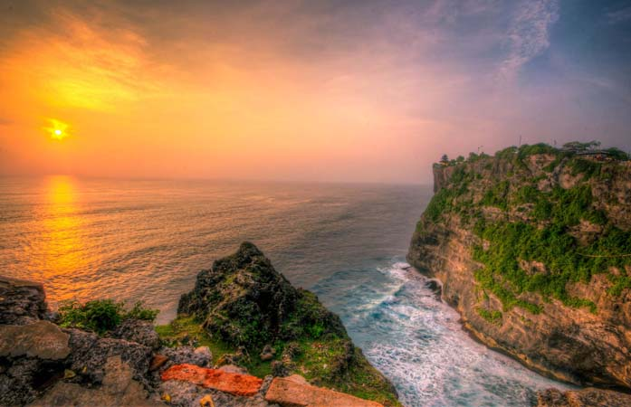 Sunset at Uluwatu Temple - Bali