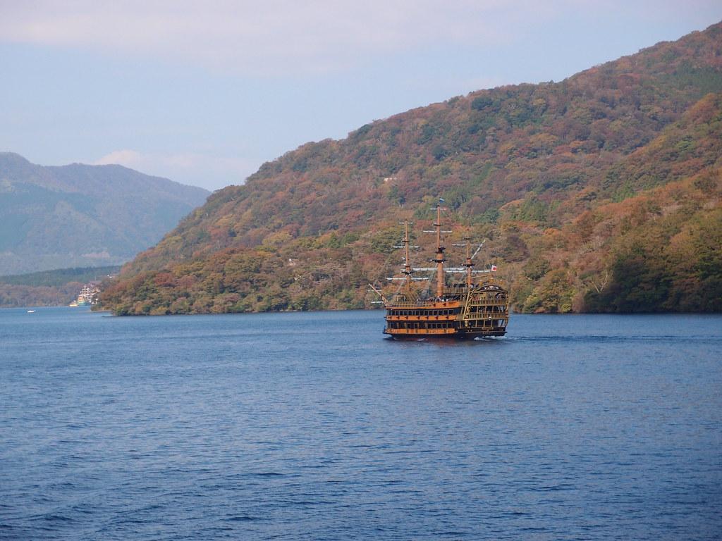Lake Ashi cruise - Mt. Fuji