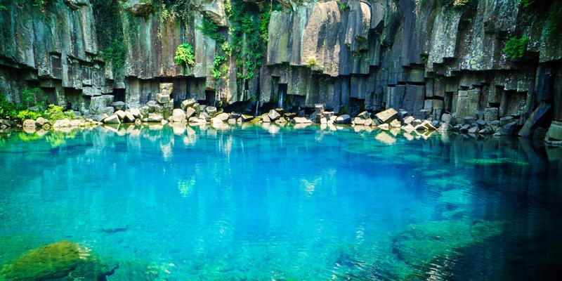 Cheonjiyeon Waterfalls - Jeju Island