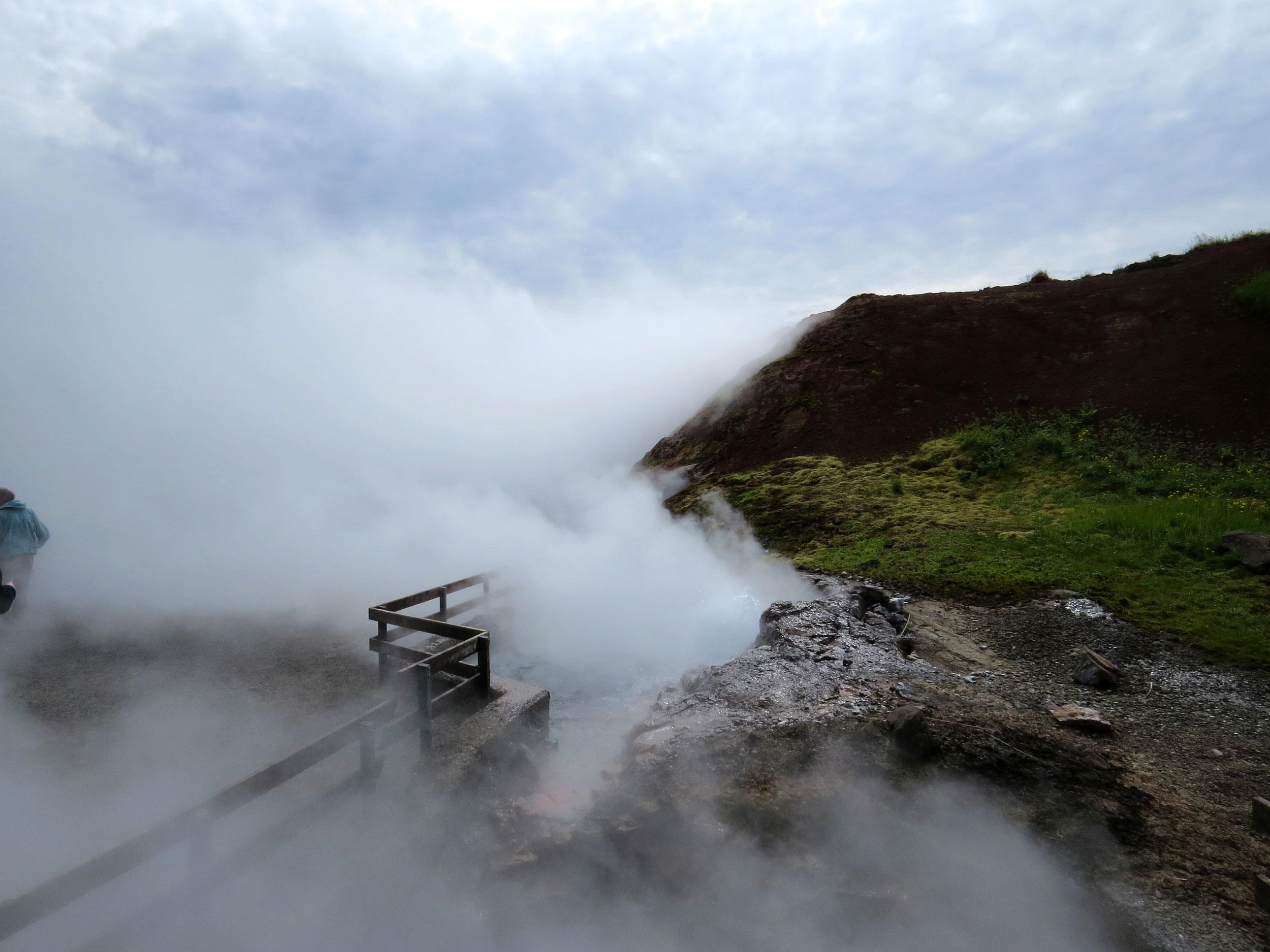 Iceland-Deildartunguhver Thermal Springs