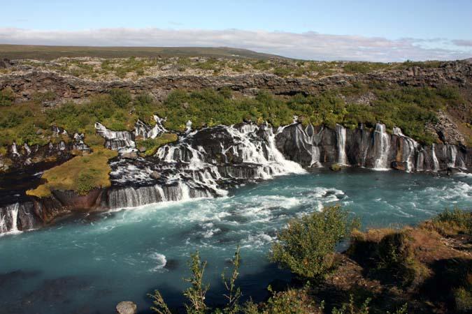 Iceland - Hraunfossar waterfalls