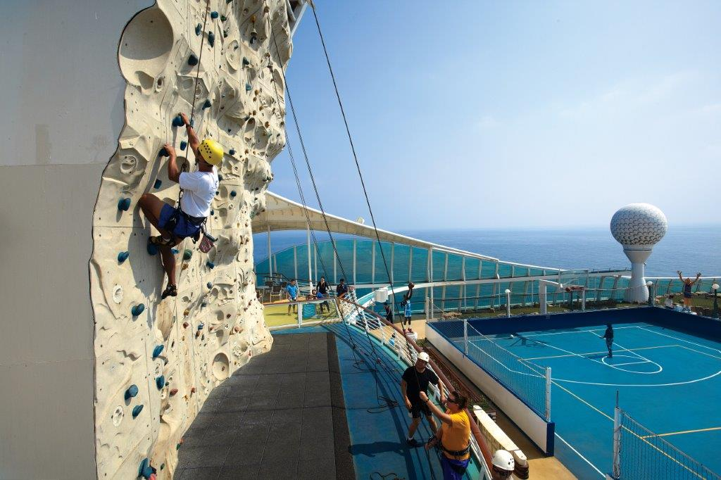Royal Caribbean Activity- Rock Climb